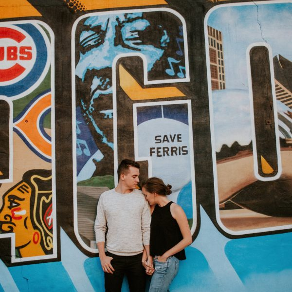 Logan Square Engagement Photos || Sally + Nick
